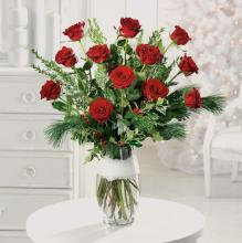 Twelve days of roses bouquet