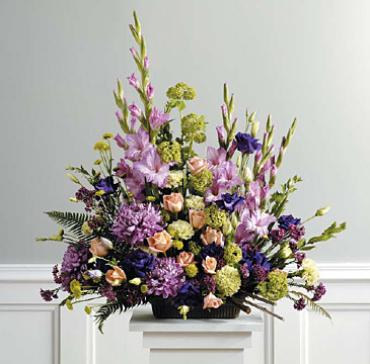 Traditional purple arrangement