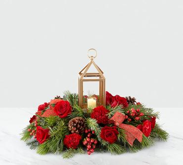 Home for Christmas Lantern Centerpiece