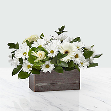 White rustic bouquet