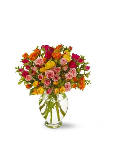 Mixed yellow/orange sweetheart roses