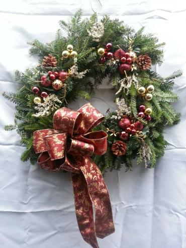Decorated Evergreen Wreaths