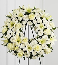 White on white wreath