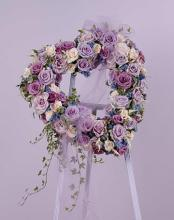 Lavender rose heart