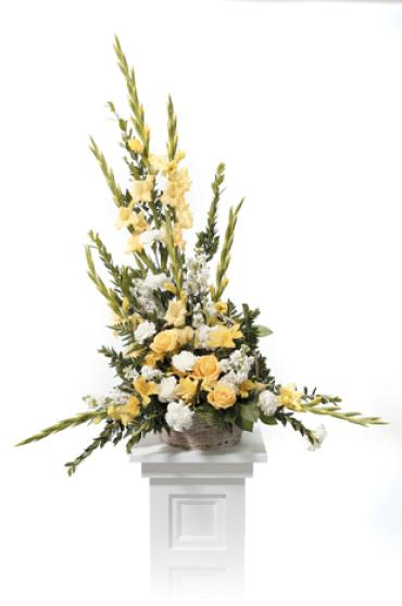 Traditional yellow arrangement