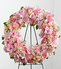 Pink on pink wreath