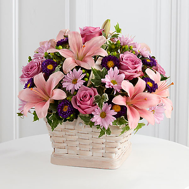 With sympathy basket
