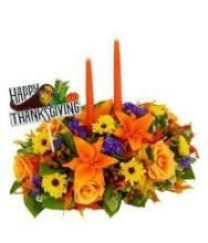 Thanksgiving candle centerpiece