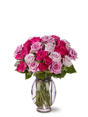 Mixed pink sweetheart roses