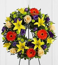 Mixed vivid wreath